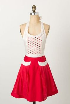 Fiammetta Apron. I love the dress aprons from Anthropologie. I wish they were real dresses.