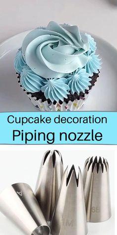 Cupcake Decorating Tips, Cake Decorating For Beginners, Cake Decorating Frosting, Cake Decorating Designs, Cake Decorating Techniques, Fondant Cupcakes, Cupcake Piping, Cake Icing, Fun Cupcakes