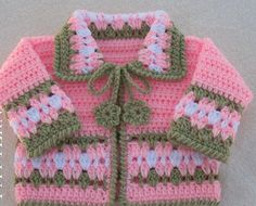 Crochet Sweater Pattern 045 - Blossom Baby Jacket in four sizes - Baby Jacket Toddler Sweater Baby Girl Doll Winter Sweater Cardigan Coat Crochet Baby Jacket, Gilet Crochet, Crochet Motifs, Crochet Mittens, Crochet Baby Clothes, Crochet Pattern, Mittens Pattern, Crochet Cardigan, Ravelry Crochet