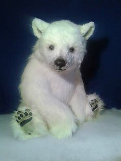 "Huge Realistic OOAK (45"") artist Polar Bear ""Pitt"" by OsoMIMosO"
