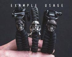 Maroon Beret Paracord Bead Lanyard Knife in Solid Pewter Paracord Braids, Paracord Bracelets, Bracelets For Men, Fashion Bracelets, Tatuagem Guns N Roses, Moda Geek, Beaded Lanyards, Paracord Projects, Viking Jewelry