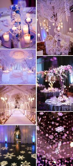 purple and pink wonderland winter wedding inspiration