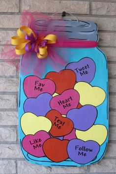 Mason Jar Wood Door Hanger Filled With by SoutherlyCreations, $35.00