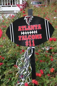 Atlanta Falcons football yard stake