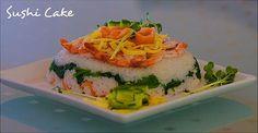 Si vous n'êtes pas rassasiés après votre plat de sushis, pensez au sushi cake !