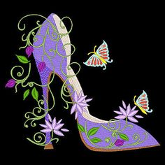 machine embroidery designs shoes - Google Search