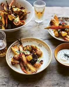 easy side dishes for parties roasted indian spiced vegetables with lime cilantro butter recipe Roasted Radishes, Roasted Carrots, Roasted Sweet Potatoes, Roasted Vegetables, Veggies, Party Side Dishes, Side Dishes Easy, Main Dishes, Side Dishes