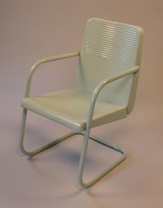 I used to own one of these 1950 Logan vintage metal chairs, but sold it.  Which is too bad as they turn out to be more rate than I thought.  www.midcenturymetalchairs.com
