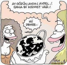 Komik Karikatürler: Sana Bir Kısmet Var Karikatürü