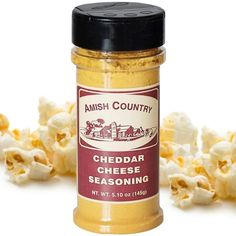 Amish CountryPopcorn SeasoningCheddar Cheese FlavourWhat's popcorn without the seasoning? Boring!Amish Countrymakes your popcorn experience fun and delicious.Taste deliciouscheesy cheddar flavourswith this convenient seasoning bottle! Tastebuds will be pleasedwith Amish Country Cheddar CheesePopcorn Seasoning.Sprinkle thisincredible seasoning on steaming hot popcorn for best results. Shake bowl or bag for an even coating. If using a hot air p Cheese Popcorn, Popcorn Kernels, Stovetop Popcorn Popper, Air Popper, Reindeer Cupcakes, Popcorn Seasoning, Romano Cheese, Amish Country, Natural Flavors
