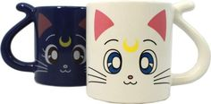 """Luna and Artemis Matching Mugs   Community Post: 19 Fantastic Gifts Every """"Sailor Moon"""" Fan Would Love"""