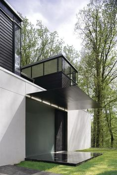 Contrasting tones and textures are a hallmark of Jameson's houses, such as the BlackWhite Residence in Bethesda.