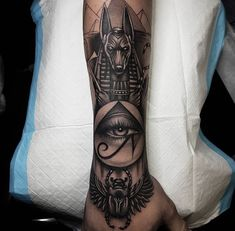 ideas egyptian tattoo sleeve for 2019 Egyptian Eye Tattoos, Egyptian Tattoo Sleeve, Leg Sleeve Tattoo, Best Sleeve Tattoos, Tattoo Sleeve Designs, Tattoo Designs Men, Egyptian Goddess Tattoo, Egyptian Mythology, Forarm Tattoos