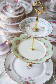 vintage dish rental - vintage dish - vintage cake stands - tea party perfect