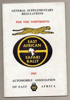 East Africa Safari Rally Pass 1965