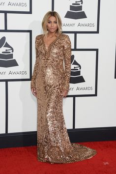 Ciara in a custom Pucci. perfection. Ciara | Fashion On The 2014 Grammy Awards Red Carpet