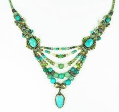 Amazon.com: Isha Elafi Knotwork and Macrame, Multi Strand Turquoise and Sterling Silver Large Drop Necklace: Isha Elafi: Jewelry