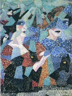 Gino Severini The Haunting Dancer C Futurist Painting, Gino Severini, Giacomo Balla, Rules Of Composition, Abstract City, Georges Braque, Pastel, Italian Painters, Italian Art