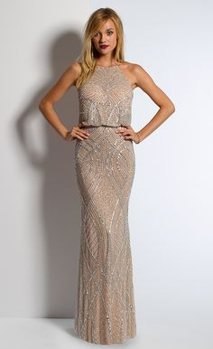 Beaded Blouson Dress