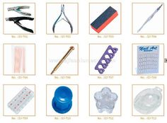 Nail Tools Art Tutorials Saloon Manicure Tips