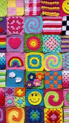 Pull Crochet, Crochet Granny, Crochet Stitches, Knit Crochet, Crochet Crafts, Crochet Projects, Sewing Projects, Crochet Square Patterns, Crochet Designs