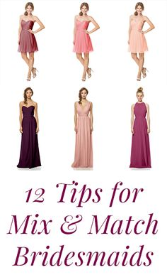 Want to mix & match your bridesmaids? These 12 essential tips by @barijayfashion will be your handbook. #weddings #trends2015