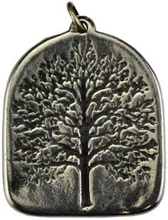 """The Tree of Life amulet; a potent symbol used as a focus for accessing the energies that unite the physical and the spiritual. Made in USA. Has cord. Pewter. 1"""" x 3/4"""""""