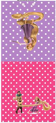 Tangled (Rapunzel) Free Printable Party Invitations.