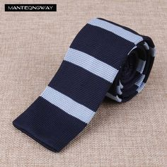 Mantieqingway Striped Knitted Ties solid Dot Neckties Gravata for Men's wedding Neck Tie Plaid Corbatas good Gift