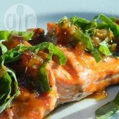 Saumon grillé rapide au gingembre @ allrecipes.fr
