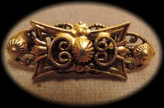 Lovely Little Gold Tone Pin c1950 by thejeweledbear on Etsy, $10.00