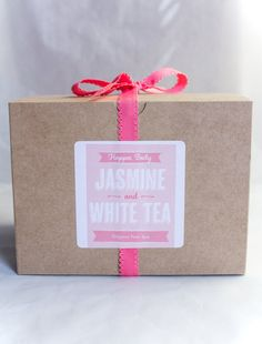 Cute wedding favors at www.happeebody.com -- Happee Body Jasmine & White Tea Foot Spa Gift Box by HappeeBody