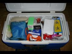 What Is Needed For Your Hurricane Emergency Kit (Checklist) - Be Prepared For The Hurricane Season. Today's bad storm has me thinking about how we are now in hurricane season. There is no time like the present to get prepared! Love everything in a cooler. Disaster Emergency Kit, Disaster Kits, Emergency Preparation, Disaster Preparedness, Survival Prepping, Tornado Preparedness, Survival Gear, Survival Shelter, Homestead Survival