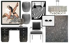 Black and White office Idea Board