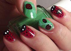 Ithinity Beauty ~ Nail Art Blog: Lady Bugs Or Lady Birds?