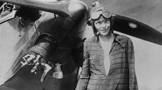 """View the picture 'Earhart' from the photo gallery 'Amelia Earhart mystery' on Yahoo News. Amelia Earhart stands June 1928 in front of her bi-plane called """"Friendship"""" in Newfoundland. (Photo by Getty Images) Gay Pride, Valentina Tereshkova, Amelie, Famous Women, Famous People, Popular People, Amelia Earhart Plane, Christopher Street Day, Christopher Columbus"""