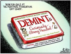 Demint taking over Heritage Foundation.