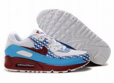 on sale 77c2a 7ffd7 Nike Air Max 90 White Sky Blue Red