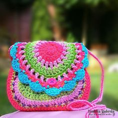 Design of this little purse was inspirated of the joyfull spring colors of Lombard Street in San Fransico, full of positive energy. Right for the little girls. My little girl, just love this purse :-)  *This is a crochet pattern and not the finished item*  This pattern is written in standard American (US) terms, in English language, with step-by-step instruction and plenty pictures for succesfull completing of your work. Pattern is available for instant download. Once payment is confirmed…