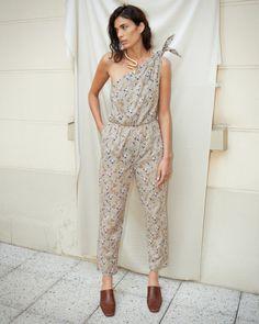 NYLA - Asymmetric one-piece jumpsuit - Western print