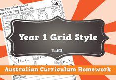 Homework Year 1 Grid Style