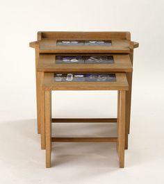 Table Gigogne: Set of three nesting tables