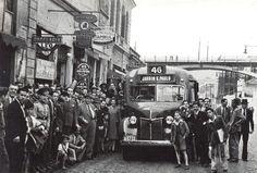 First bus line to Jardim Sao Paulo, circa 1938 - Sao Paulo, Brazil.