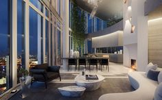 South Bank Tower's apartments offer a choice of lateral and duplex styles, each featuring expansive floor-to-ceiling glazing. The development also features London's largest private roof garden plus a residents' gym with 20-metre pool.