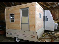 Pop Up Camper Trailer, Camping Trailer Diy, Pop Up Truck Campers, Fishing Shack, Ice Fishing, Diy Teardrop Trailer, Camper Hacks, Camper Ideas, Popup Camper Remodel