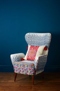 RSCaterina Ikat Wing Chair-1