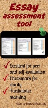 Self-evaluation grids are a great way to guide students in their evaluations. Students will know exactly what is expected of them and will be made responsible for their own success. This package can also easily be changed to be used as peer evaluations. This self evaluation grid will help students as well as teachers to assess students' essays. When students use this grid to assess their own work, there are no surprises when they receive their final mark.