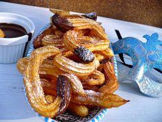 Juditka konyhája: CHURROS - SPANYOL FÁNK Onion Rings, Churros, Waffles, French Toast, Breakfast, Ethnic Recipes, Food, Morning Coffee, Essen