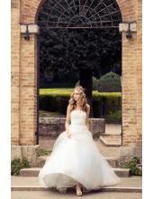 Trägerloses A-linie Traumhaftes Hochzeitskleider Rembo Styling