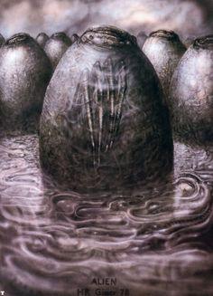 H. R. Giger alien egg